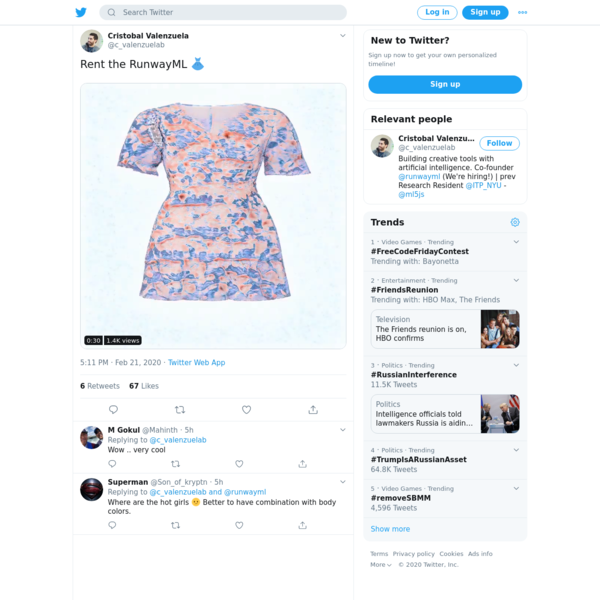 Cristobal Valenzuela on Twitter