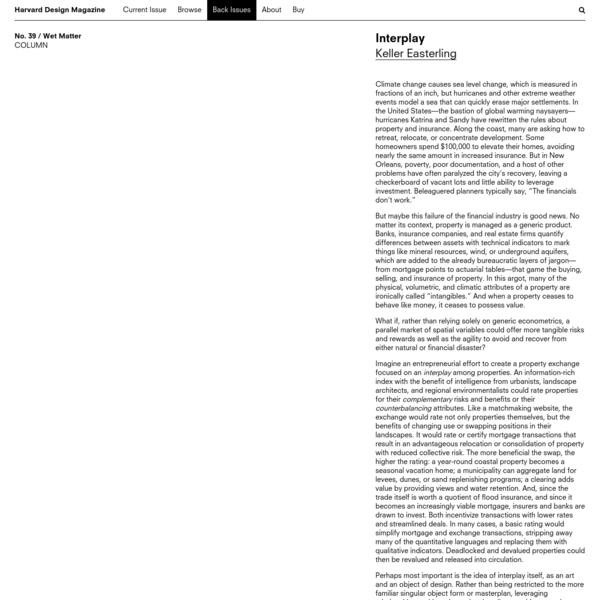 Harvard Design Magazine: Interplay