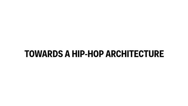 Towards a Hip-Hop Architecture: NYC Edition - 1.28.16