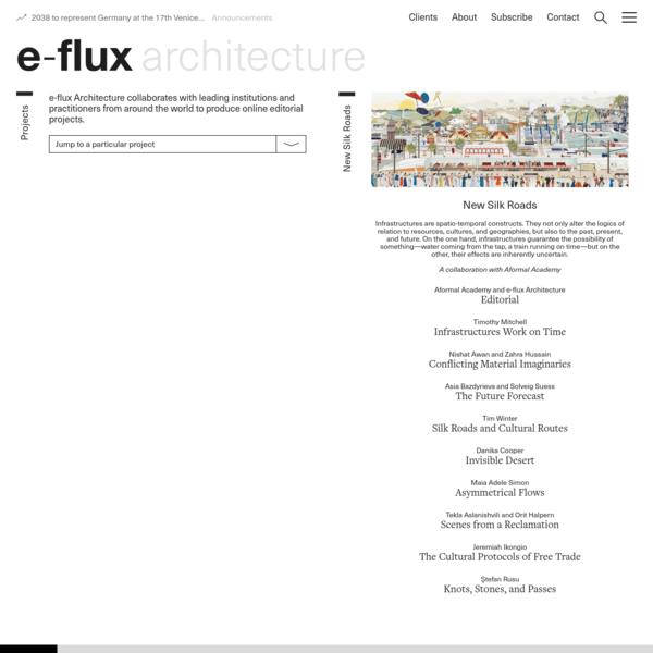Projects - e-flux Architecture - e-flux