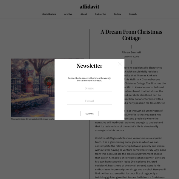A Dream From Christmas Cottage | Affidavit