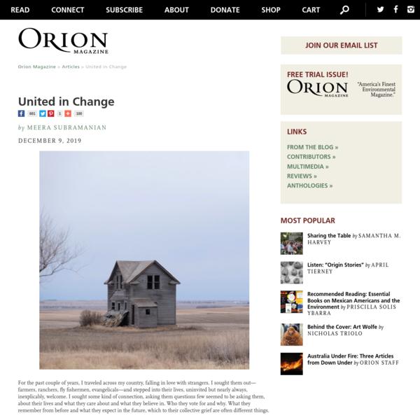 Orion Magazine | United in Change