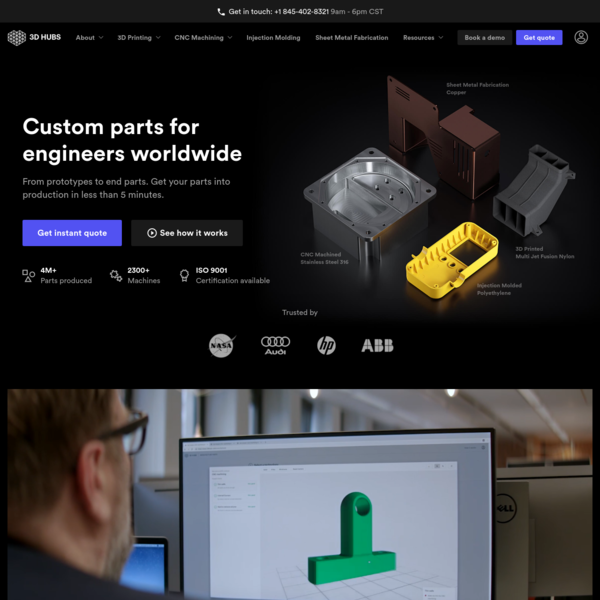 3D Hubs | On-demand Manufacturing: Quotes in Seconds, Parts in Days
