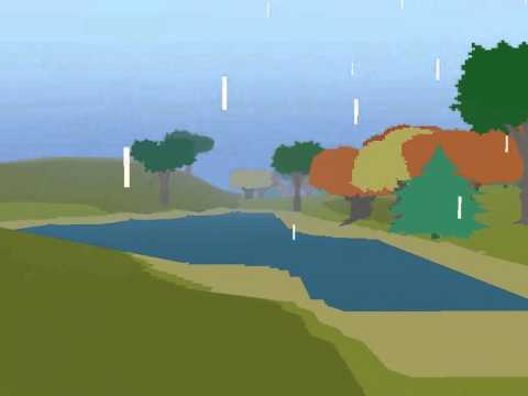 Proteus is an audiovisual wilderness exploration game developed by Twisted Tree Games. It combines music and attractive visuals to create mysterious, interesting and magical environments. Each world is procedurally generated, with weather, seasons and day&night cycles, all of which add to the experience of Proteus.