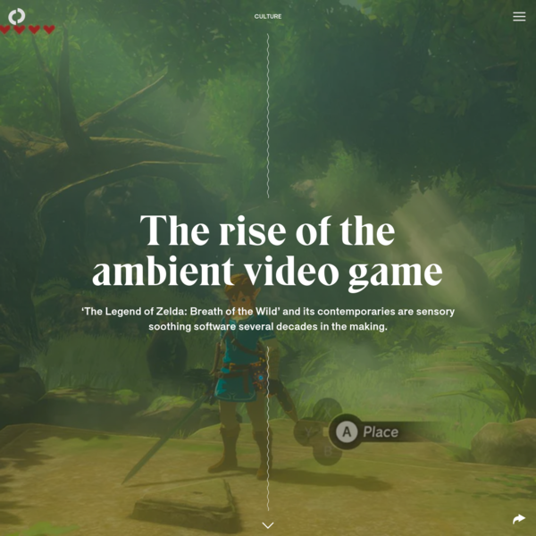 The rise of the ambient video game