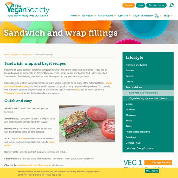 Sandwich and wrap fillings