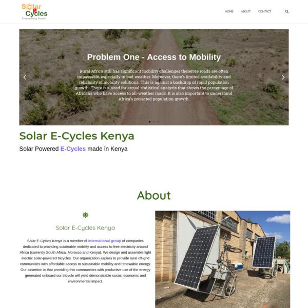 Solar E-Cycles Kenya