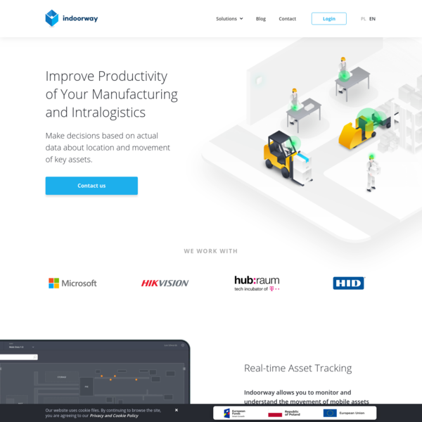 Indoorway | Actual data about your manufacturing processes