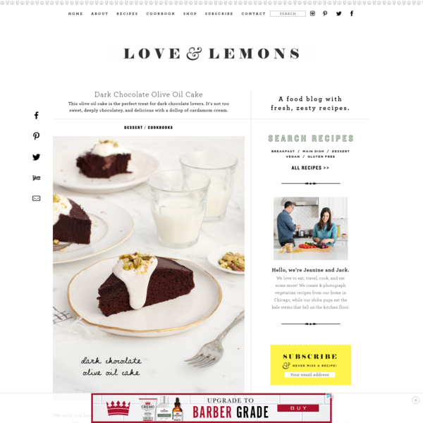 Dark Chocolate Olive Oil Cake Recipe - Love and Lemons