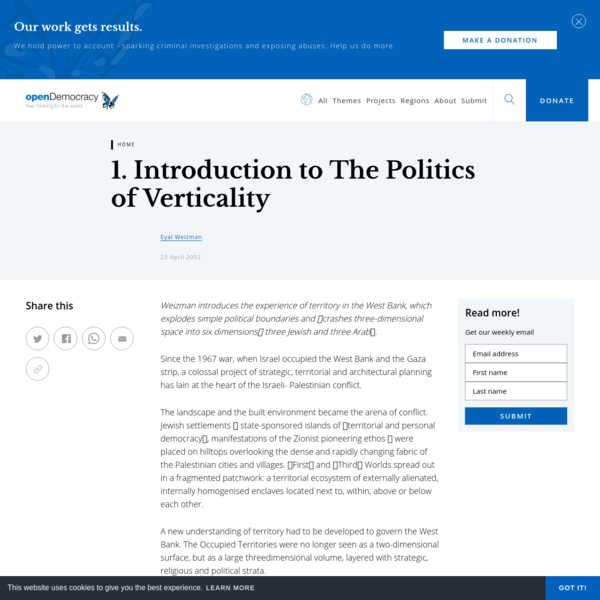 1. Introduction to The Politics of Verticality