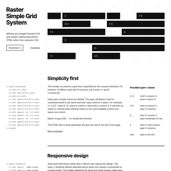 Raster-CSS Grid System