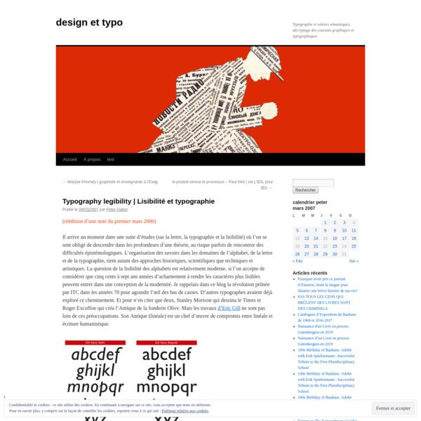 Typography legibility | Lisibilité et typographie