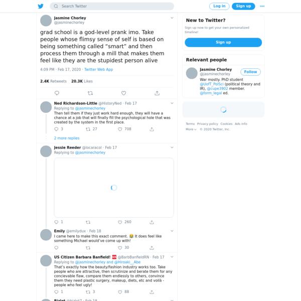 Jasmine Chorley on Twitter