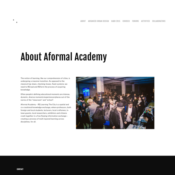About us - Aformal Academy