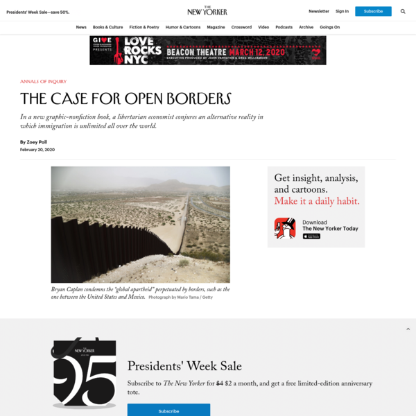 The Case for Open Borders | The New Yorker