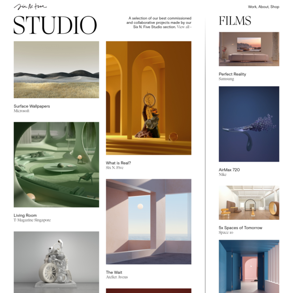 Six N. Five - Images, Films and Objects - Multidisciplinary Design Studio
