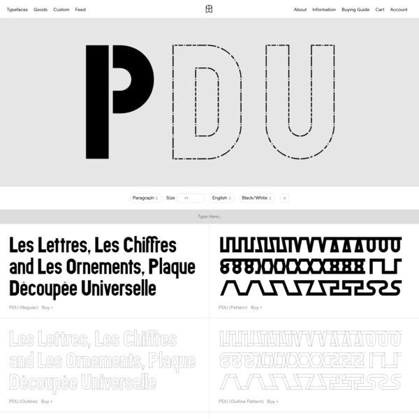 PDU - Colophon Foundry