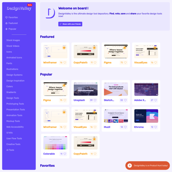 DesignValley   Ultimate design tools depository