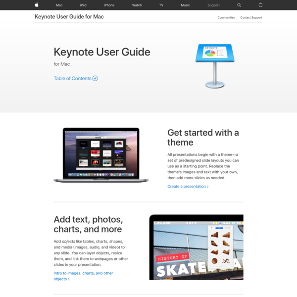 Keynote User Guide for Mac