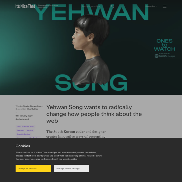 Yehwan Song wants to radically change how people think about the web