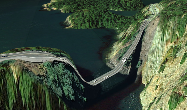 Clement Valla, Postcard from Google Earth (48°24'31.45″N, 122°38'45.52″W), 2010