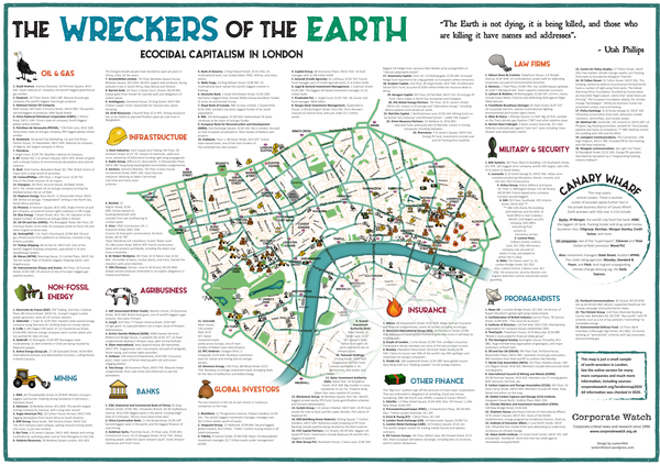 Wreckers of the Earth: a map of ecocidal capitalism in London