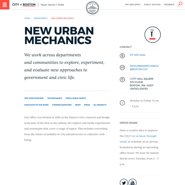 New Urban Mechanics