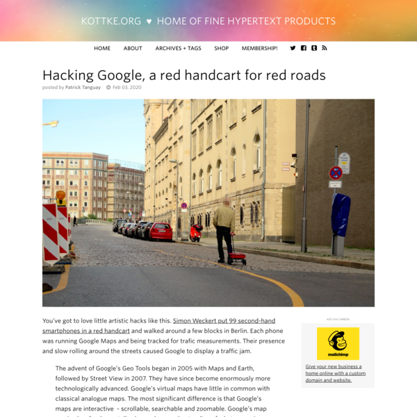 Hacking Google, a red handcart for red roads