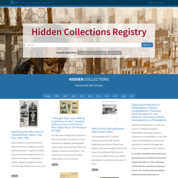 Hidden Collections Registry