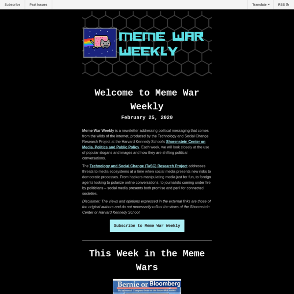 Meme War Weekly Newsletter 1