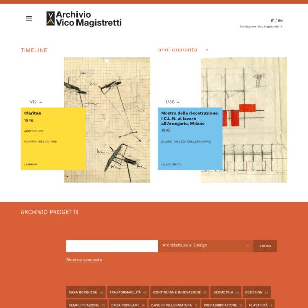 Home page - Fondazione Vico Magistretti