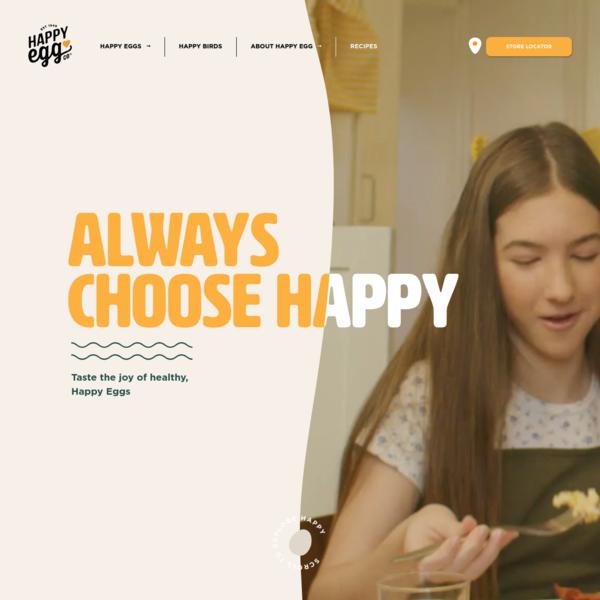 Happy Egg * Free Range Eggs   Always Choose Happy