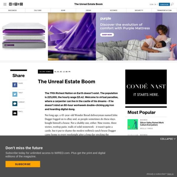 The Unreal Estate Boom
