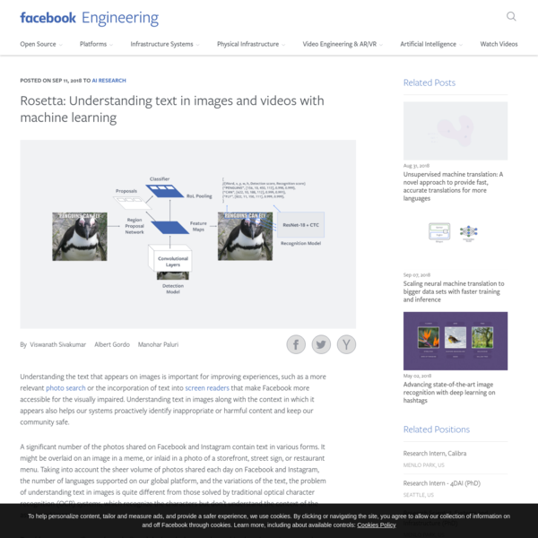 Rosetta: Understanding text in images and videos with machine learning - Facebook Engineering