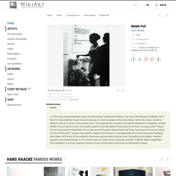 MoMA Poll, 1970 - Hans Haacke - WikiArt.org
