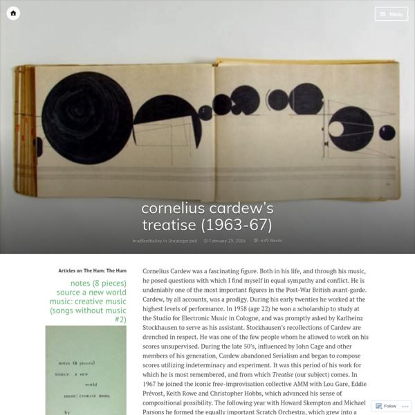 cornelius cardew's treatise (1963-67)