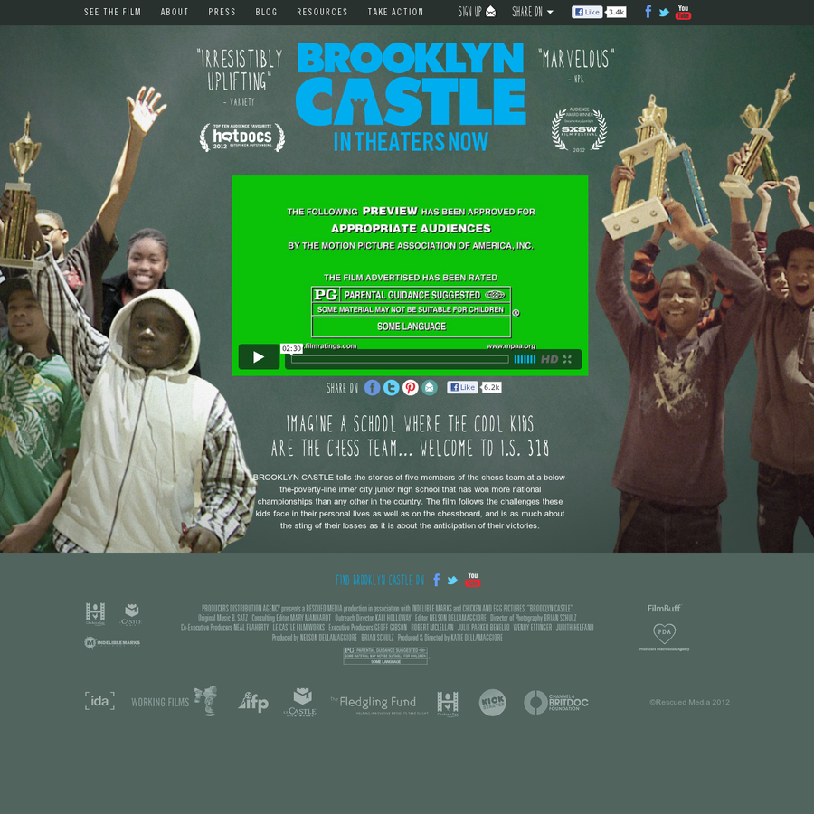 Brooklyn Castle - In Theaters Now - Brooklyn Castle tells the stories of five members of the chess team at a below-the-poverty-line inner city junior high school that has won more national championships than any other in the country.