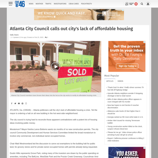 Atlanta City Council calls out city's lack of affordable housing