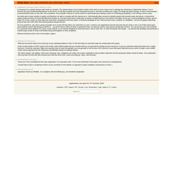 It's because it's a system trying to pitch itself as a product. The system bein...   Hacker News