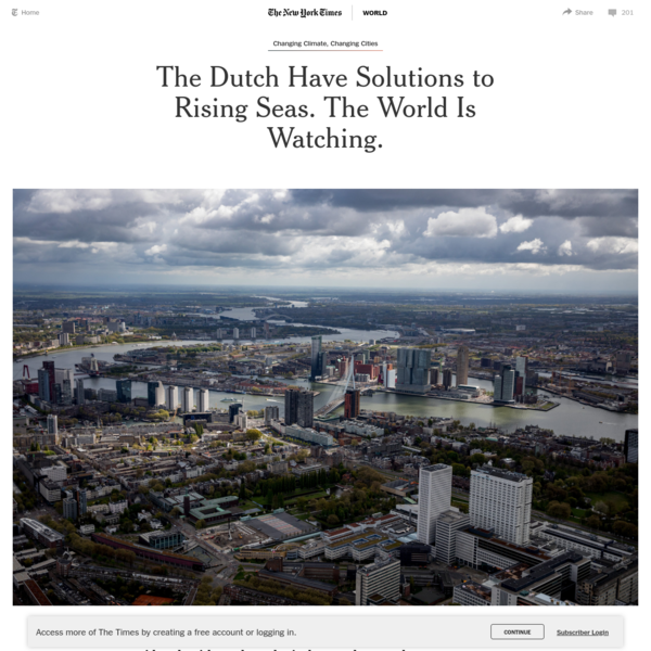 The Dutch Have Solutions to Rising Seas. The World Is Watching.