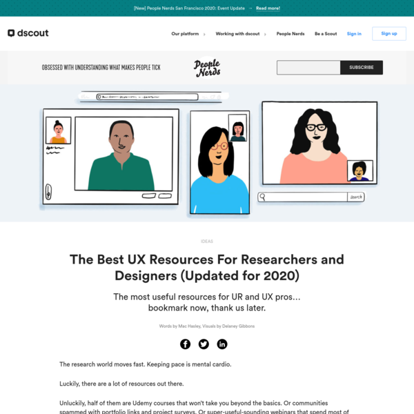 The Best UX Resources For Researchers and Designers (Updated for 2020)