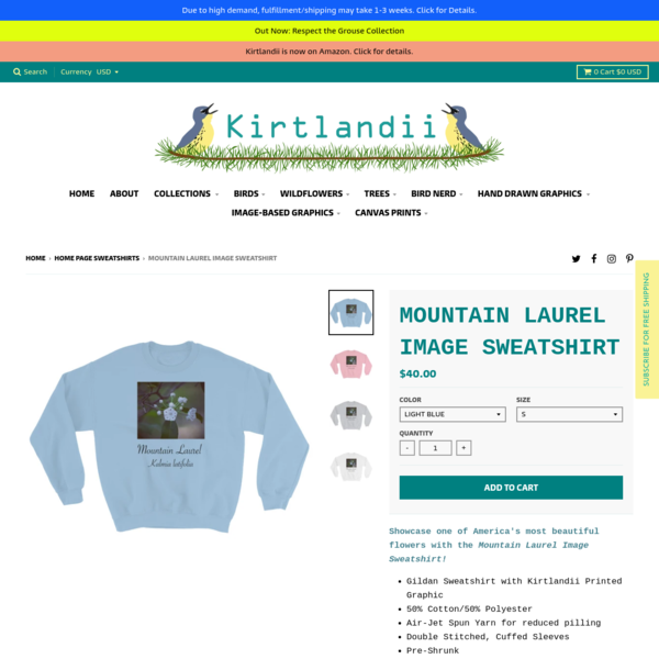 Mountain Laurel Image Sweatshirt