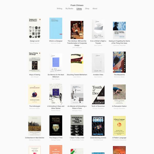 Frank Chimero - Library