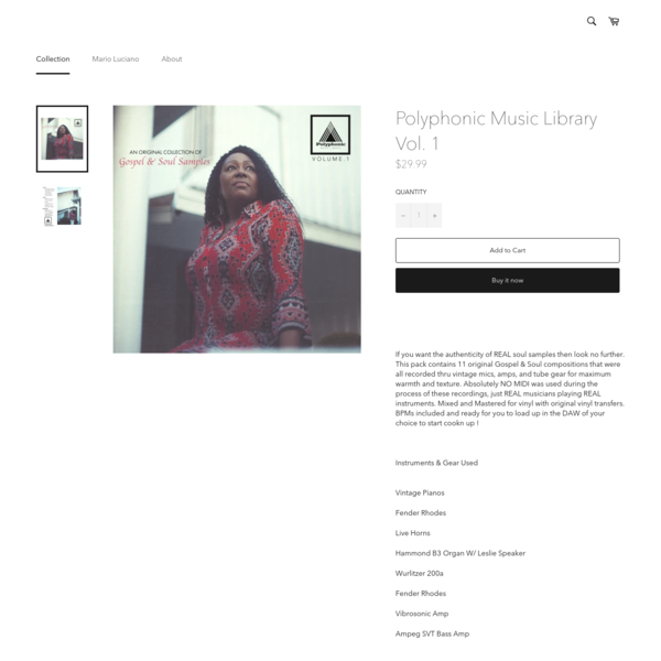 Polyphonic Music Library Vol. 1