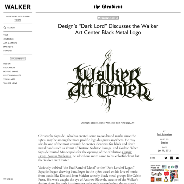 "Design's ""Dark Lord"" Discusses the Walker Art Center Black Metal Logo"