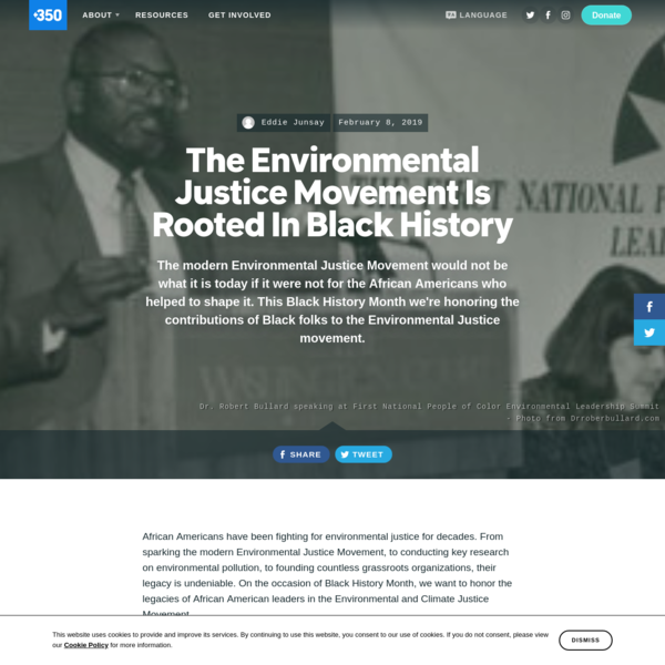 The Environmental Justice Movement Is Rooted In Black History