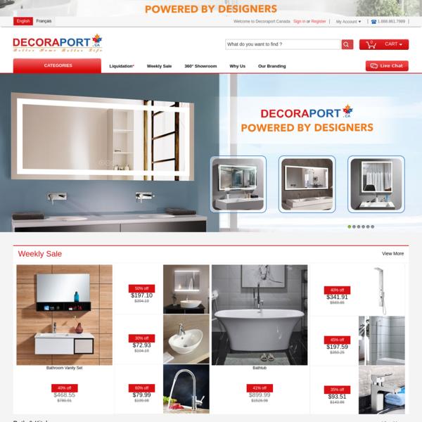 Home Decoration & Renovation, LED Mirror, Vanity Sets, Bathtub | Decoraport Canada