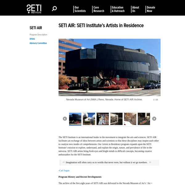 SETI AIR: SETI Institute's Artists in Residence