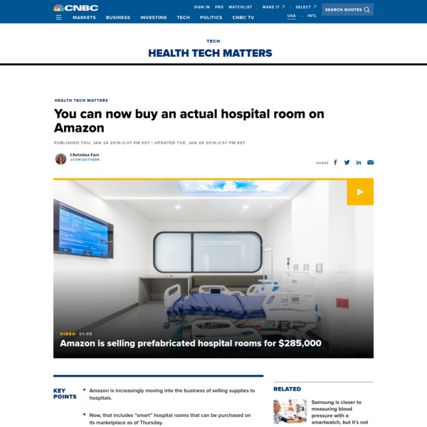 You can now buy an actual hospital room on Amazon