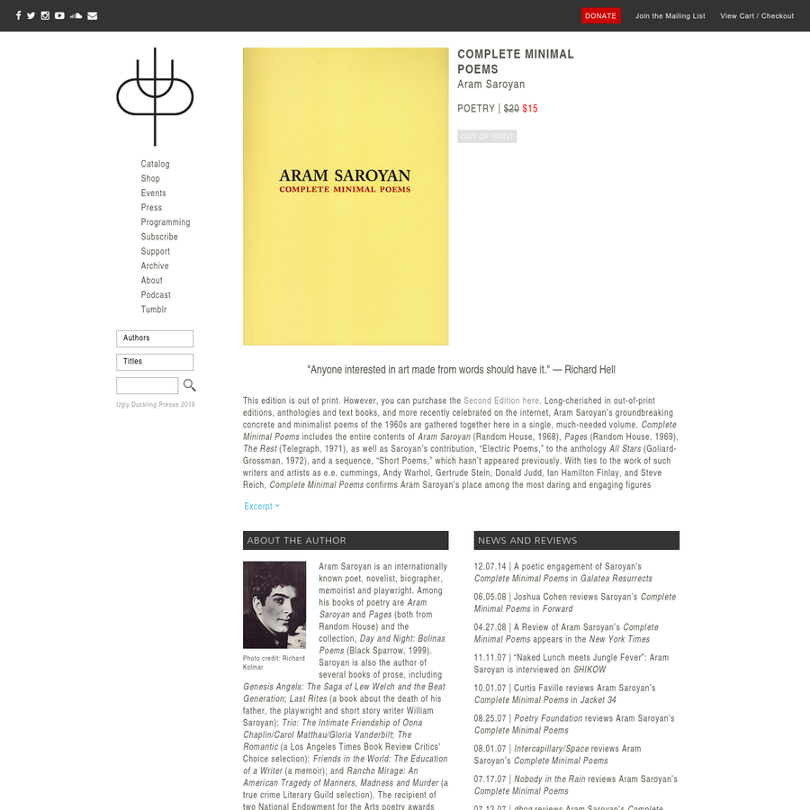 """Complete Minimal Poems Poetry 